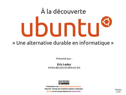 À la découverte d'Ubuntu!